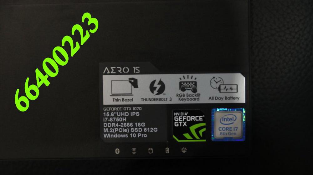 للبيع لاب توب Gigabyte 15.6 Aero 15X