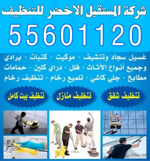 شركة المستقبل الاخضر للتنظيف 55601120 تنظيف فلل وشقق 55601120